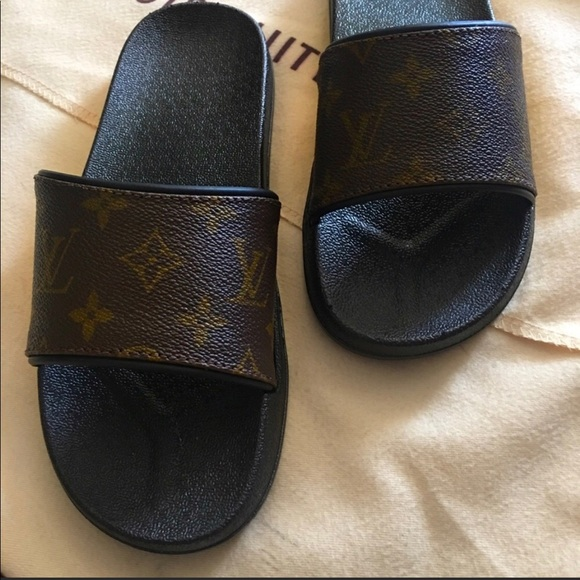 26c2f645dcbe Authentic Upcycled LV Slides
